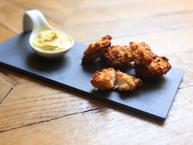 Nuggets de Poulet et mayonnaise au citron