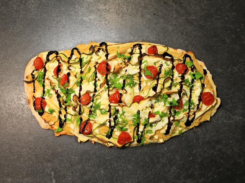 Pizza Express Houmous et courgettes